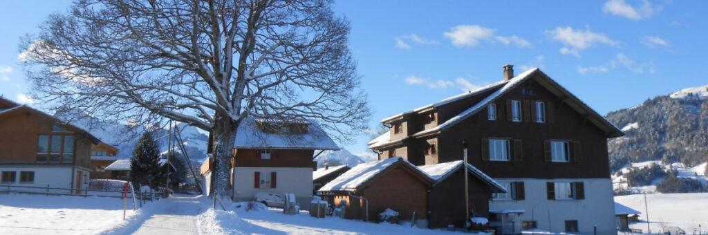 Das Lagerhaus im Winter